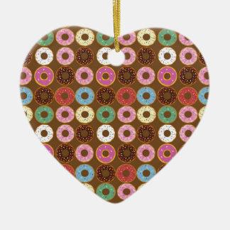 Donut Round Ceramic Ornament