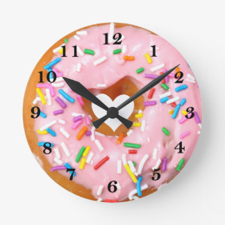 Donut Round Clock