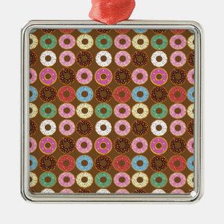 Donut Round Metal Ornament