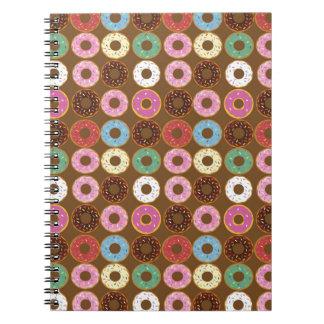 Donut Round Spiral Notebook