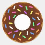 Donut Round Stickers