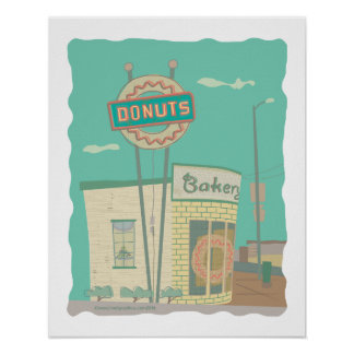 Donut Shop-from Route 66 Memories Poster