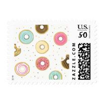 Donut Stamps Doughnut party Sweet Pink blue