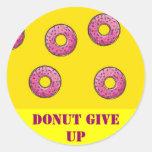 Donut stickers round sticker
