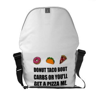 Donut Taco Carbs Pizza Messenger Bag