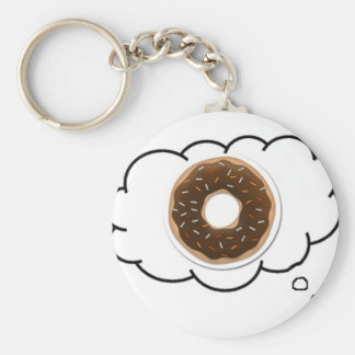 DONUT THOUGHT KEYCHAIN