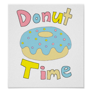 Donut Time Poster