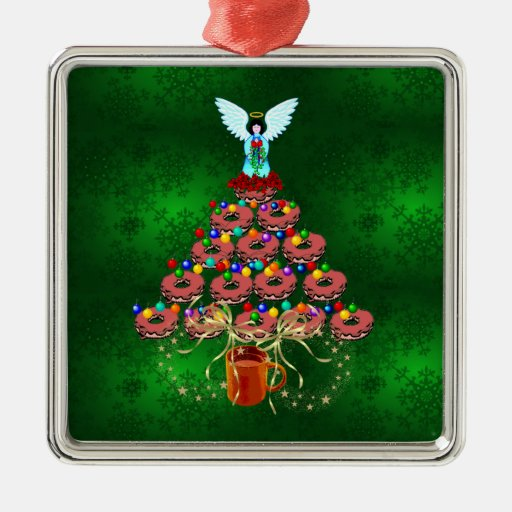 Donut Tree Christmas Ornament