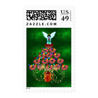 Donut Tree Postage Stamp