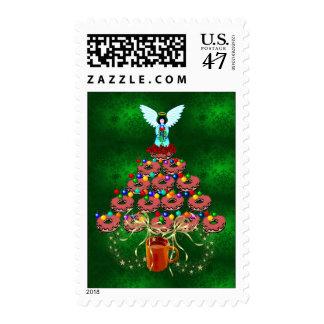 Donut Tree Postage Stamp