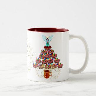 Donut Tree Two-Tone Coffee Mug