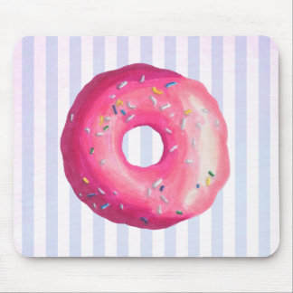 Donut With Pink Frosting And Sprinkles Mouse Pad
