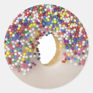 donut with sprinkles classic round sticker