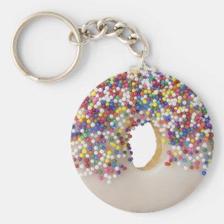donut with sprinkles keychain