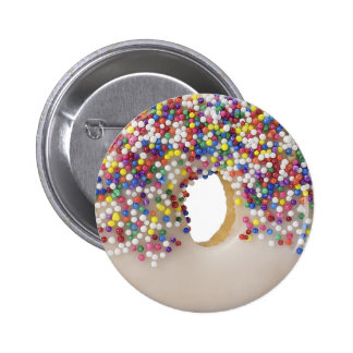 donut with sprinkles pinback button