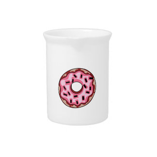 DONUT WITH SPRINKLES BEVERAGE PITCHERS