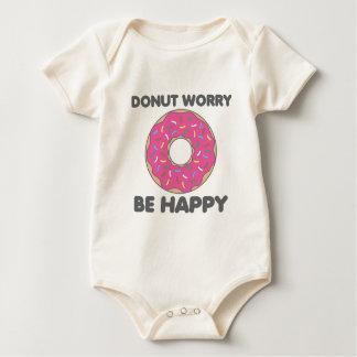 Donut Worry Be Happy Baby Bodysuit