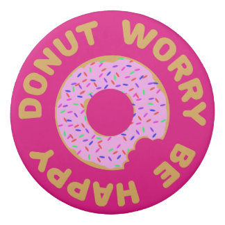 Donut Worry Be Happy Eraser
