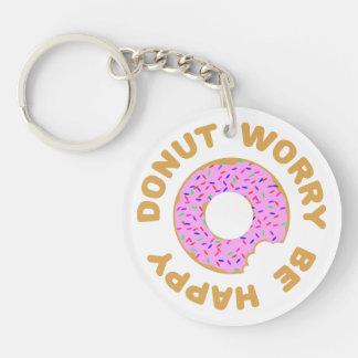 Donut Worry Be Happy Keychain