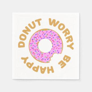 Donut Worry Be Happy Napkin