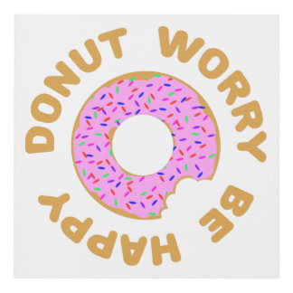Donut Worry Be Happy Panel Wall Art