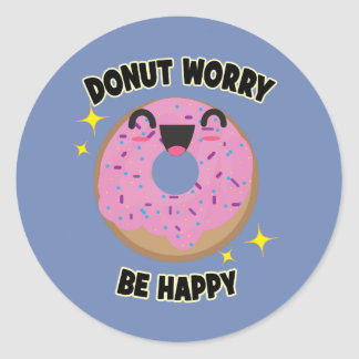 Donut Worry Be Happy Stickers