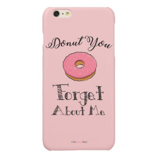 'Donut you forget about me' phone case - pink