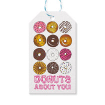 Donuts About You Valentine's Day Donut Gift Tags