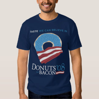 Donuts and Bacon: Taste we can Believe in - blue Shirt