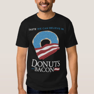Donuts and Bacon: Taste we can Believe in - blue T Shirt