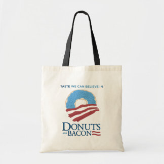 Donuts and Bacon: Taste we can Believe in Budget Tote Bag