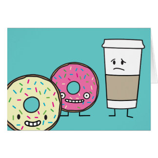 Donuts and Coffee Card
