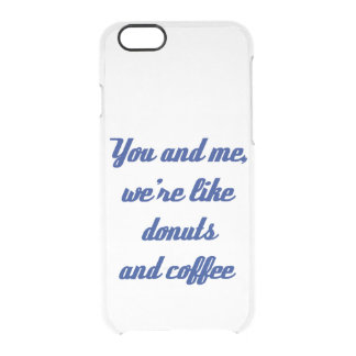 Donuts and Coffee iPhone 6 Case Uncommon Clearly™ Deflector iPhone 6 Case