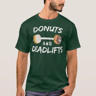 Donuts and Deadlifts  Funny Doughnut Workout Tee