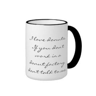 Donuts are Serious. Ringer Mug