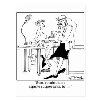 Donuts as Appetite Suppressants Postcard