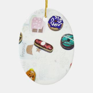 Donuts Ceramic Ornament