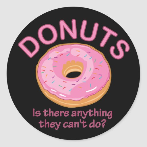 Donuts Classic Round Sticker