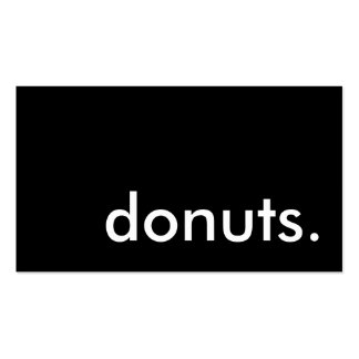 donuts. (color customizable) business card template