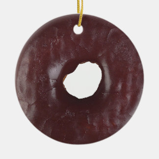 Donuts Double-Sided Ceramic Round Christmas Ornament