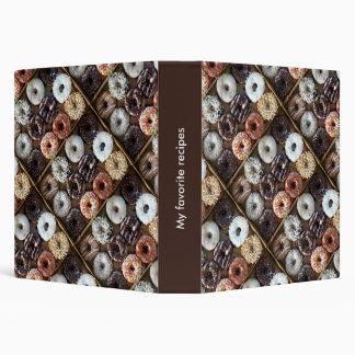 Donuts Doughnuts Dessert Recipe Book Binder