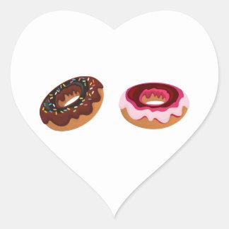 Donuts/Doughnuts Heart Sticker