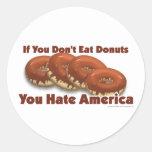 Donuts For America Classic Round Sticker