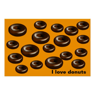 Donuts for dad poster