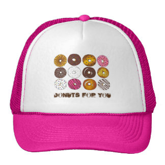 Donuts for You Valentine's Day Doughnut Donut Hat