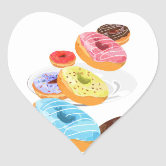 Donuts Heart Sticker