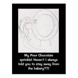 Donuts humor postcard...