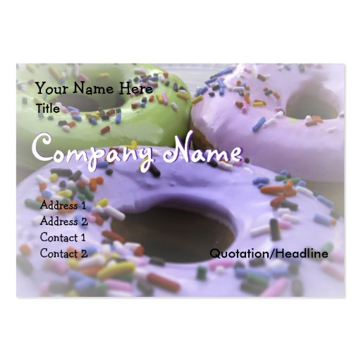 Donuts Large Business Cards (Pack Of 100)