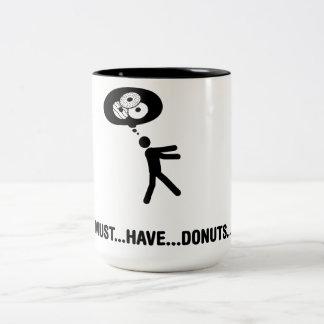Donuts Lover Two-Tone Coffee Mug