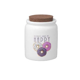 Donuts Make Me Happy Candy Jar